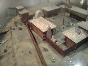 replica of village at Illinois state museum