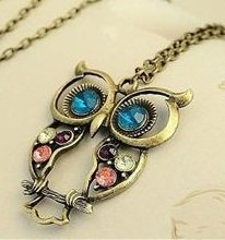 Sodial owl charm necklace