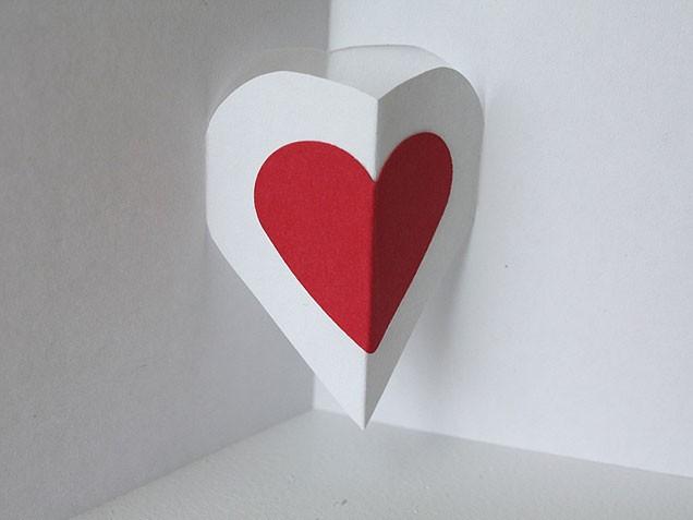 v day pop up heart card