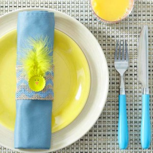 Bottle-Cap Chick Napkin Rings