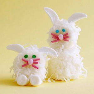 marshmellow easter bunnies