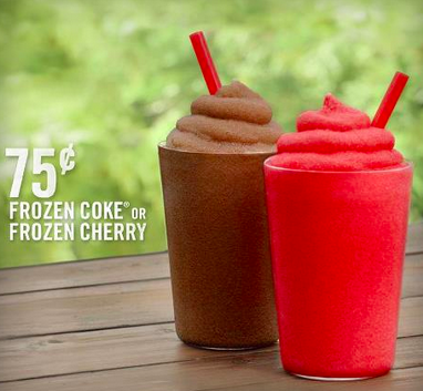 frozen drinks at burger king