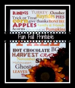 fall printable collage