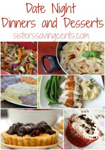 date night dinners and desserts