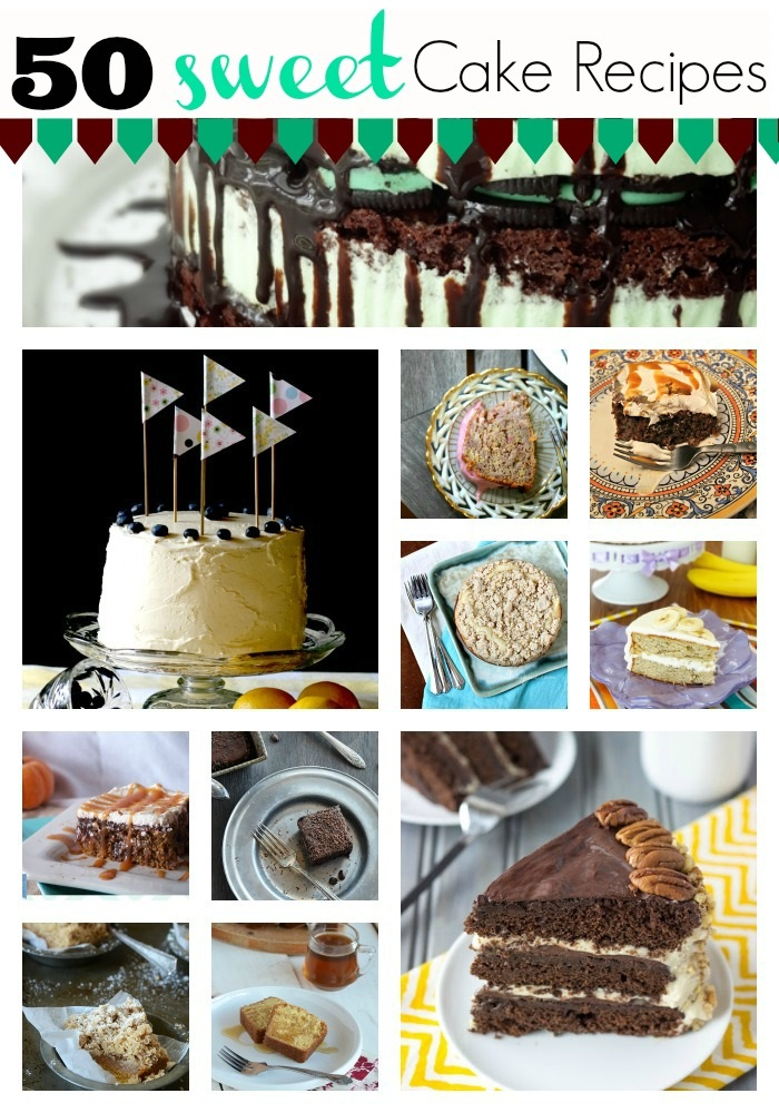 50 sweet cake recipe round up