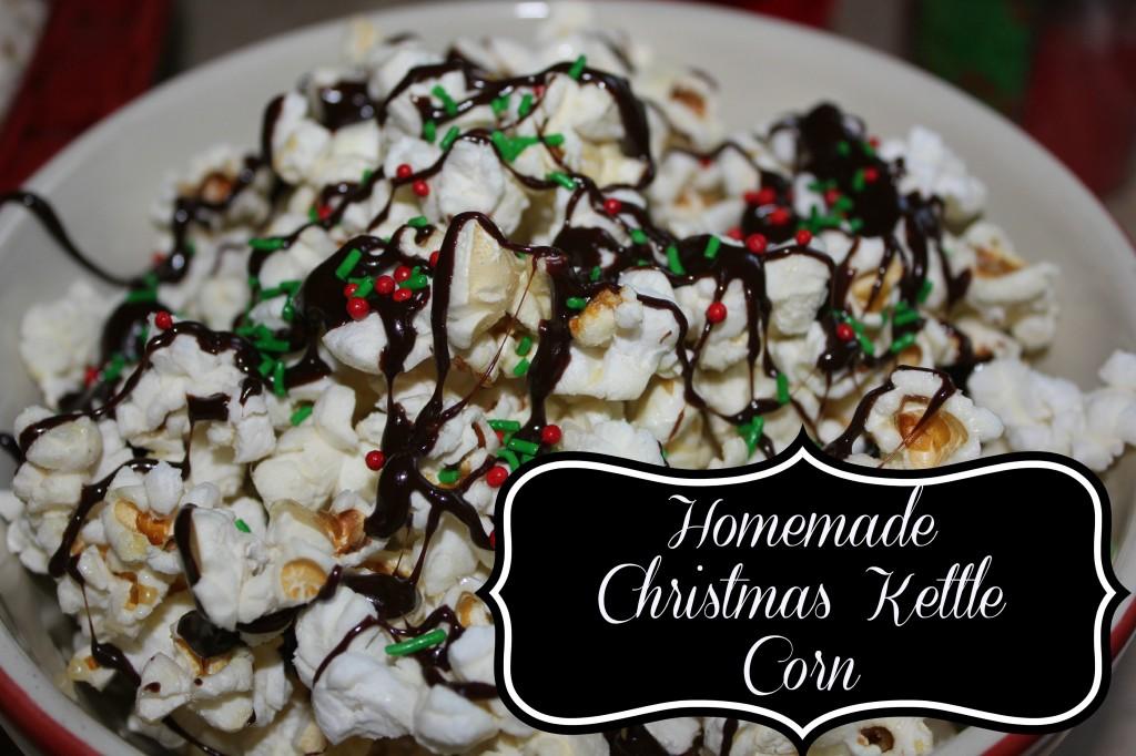 homemade christmas kettle corn
