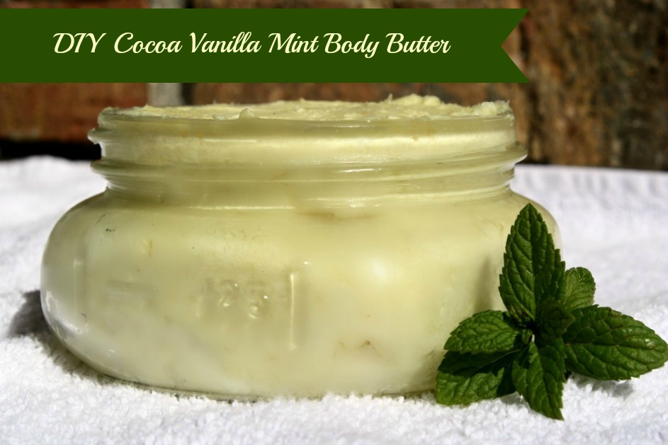 diy cocoa mint body butter