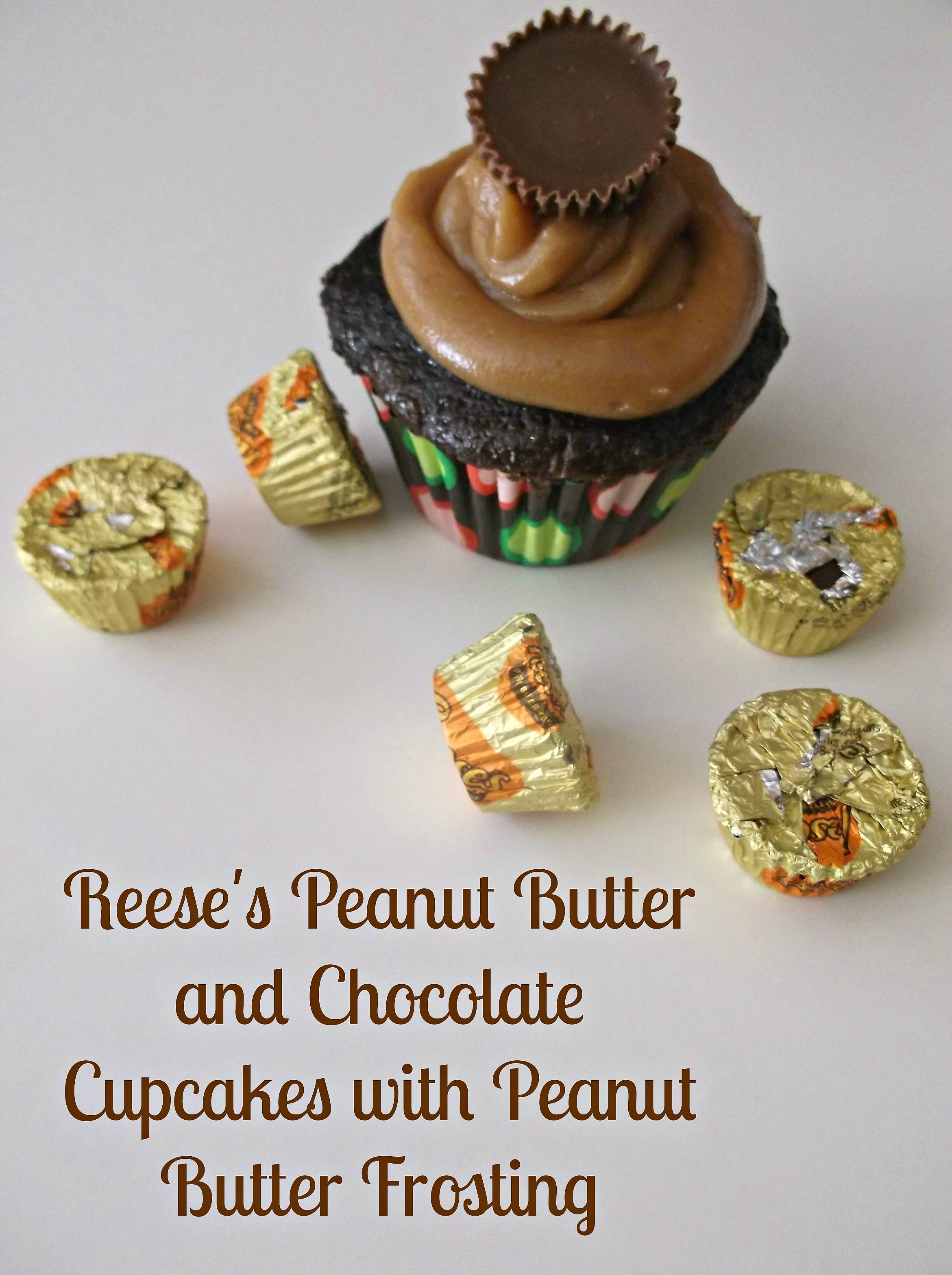 ... Peanut Butter and Chocolate Cupcakes with Peanut Butter Frosting