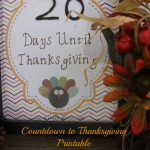 countdown to thanksgiving printable