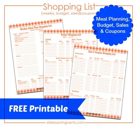 shopping list preview pinterest