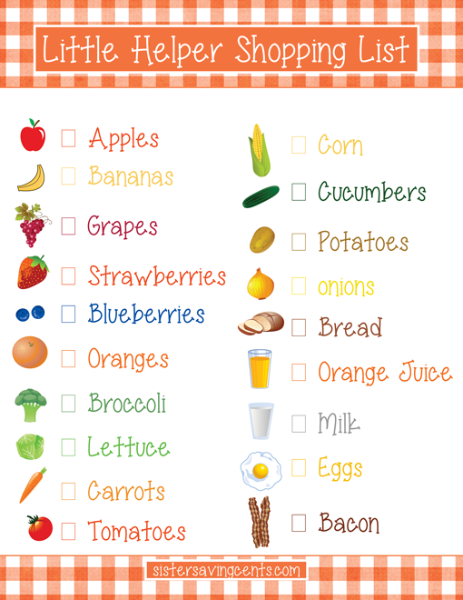 Free Printable: Little Helper Shopping List