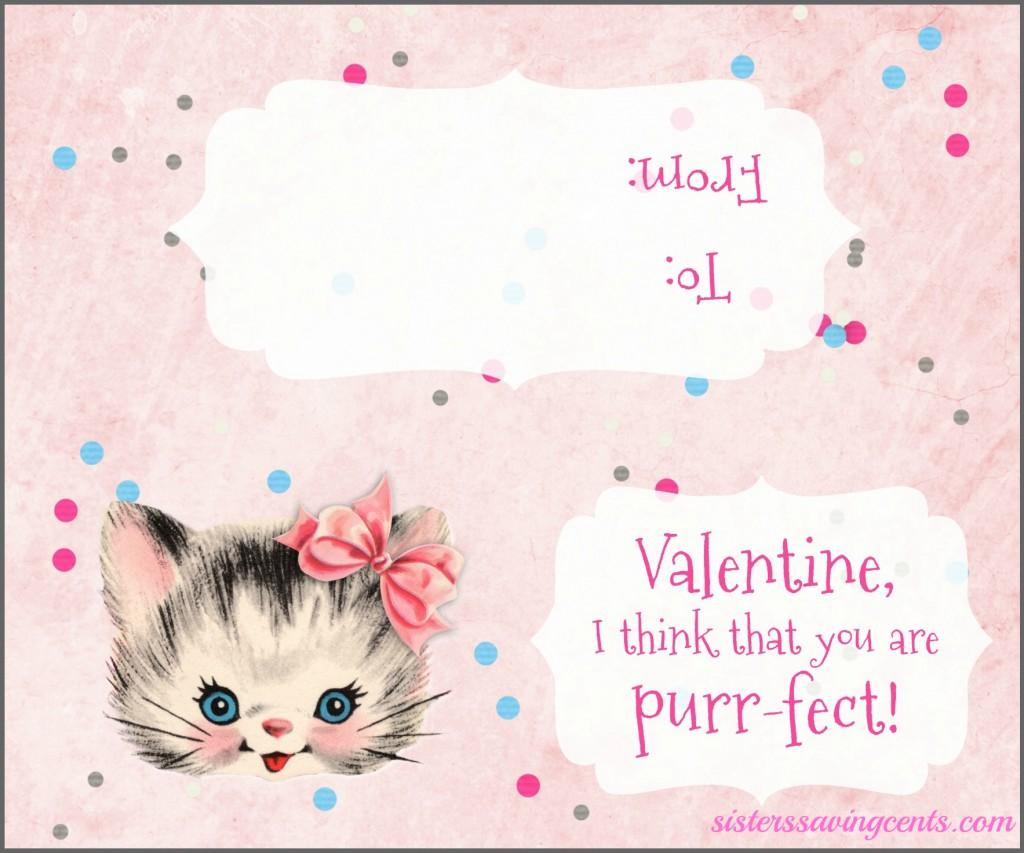 valentines day bag topper kitty plain